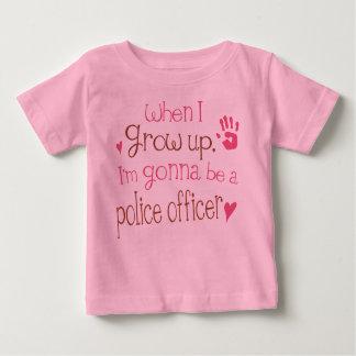 T-shirt infantile de bébé de policier (avenir)