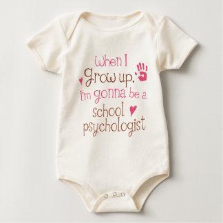 T-shirt infantile de bébé de psychologue d'école