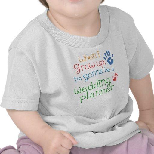 T-shirt infantile de bébé de wedding planner (aven