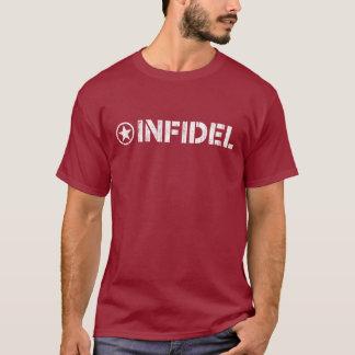 T-shirt infidèle - logo patiné de pochoir de