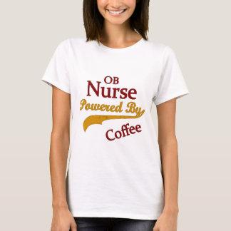 T-shirt Infirmière d'OB actionnée par le café