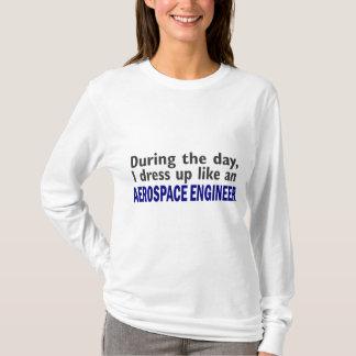 T-shirt INGÉNIEUR AÉROSPATIAL au cours de la journée