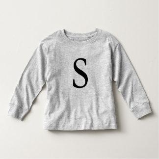 T-shirt initial noir décoré d'un monogramme de la