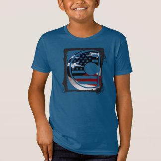 T-Shirt Initiale américaine de drapeau du monogramme C