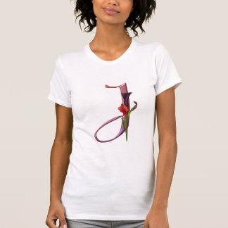 T-shirt Initiale colorée J de calla
