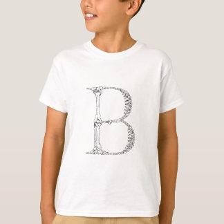 T-shirt Initiale d'os de la lettre B