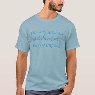 T-shirt inquiétude-induit de violence