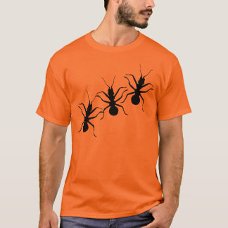 T-shirt Insectes noirs Crawly déplaisants de fourmis