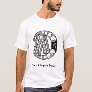 T-shirt Insigne d'alpha de Chi de lambda