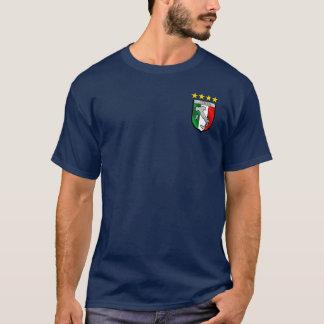 T-shirt Insigne italien d'emblème de drapeau