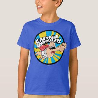 T-shirt Insigne volant de héros de capitaine Underpants  