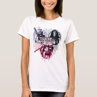 T-shirt Insignes de graffiti de filles de peloton du