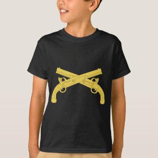 T-shirt Insignes de police militaire - pistolets croisés
