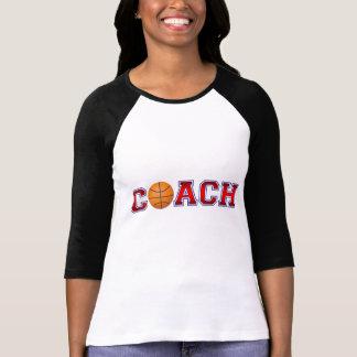 T-shirt Insignes gentils de basket-ball d'entraîneur