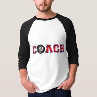 T-shirt Insignes gentils de billard d'entraîneur