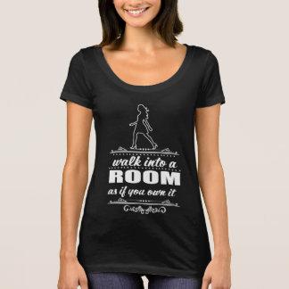 T-shirt inspiré de cou de scoop de femme