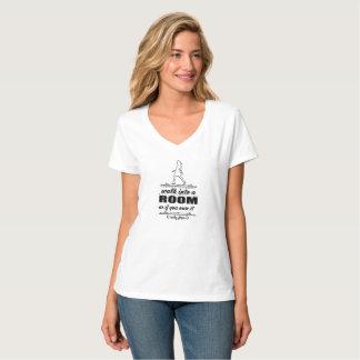 T-shirt inspiré de V-Cou de femme