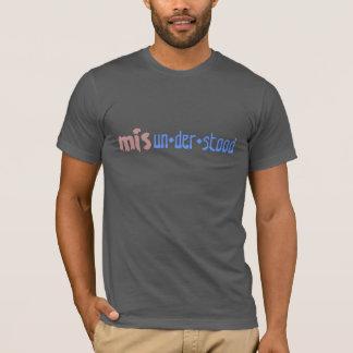 T-shirt inspiré drôle mal compris de t-chemise-conception
