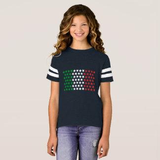 T-shirt Inspiré par le drapeau italien. Édition d'étoiles
