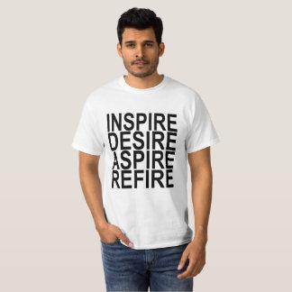 T-SHIRT INSPIREZ LE DÉSIR ASPIRENT LES RÉSOLUTIONS SHI