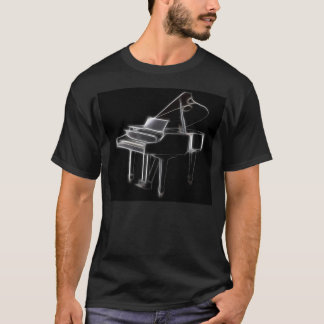T-shirt Instrument classique musical de piano à queue