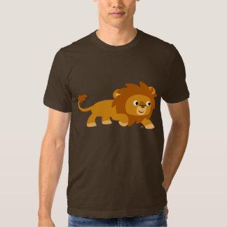 T-shirt intelligent de lion de bande dessinée