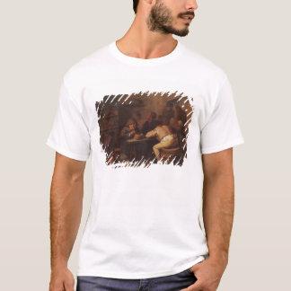 T-shirt Intérieur avec des fumeurs