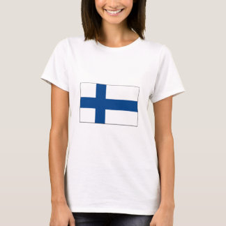 T-shirt International de DRAPEAU de la Finlande
