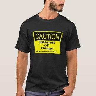 T-shirt Internet de panneau d'avertissement de précaution