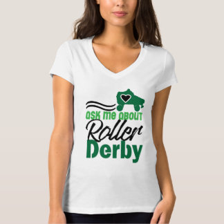 T-shirt Interrogez-moi au sujet du rouleau Derby, patinage