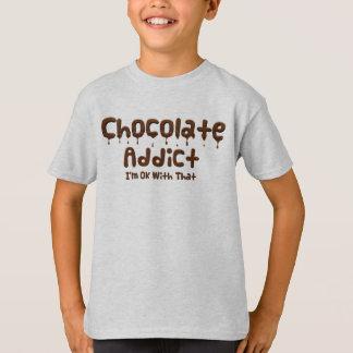 T-shirt Intoxiqué de chocolat