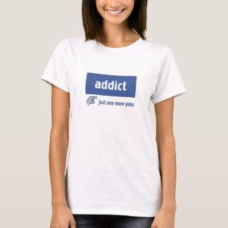 T-shirt Intoxiqué de Facebook