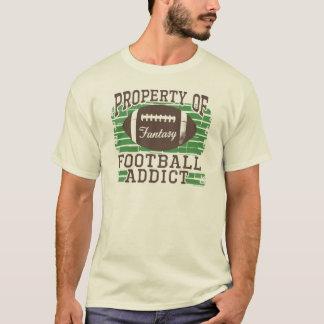 T-shirt Intoxiqué du football par des studios de Mudge