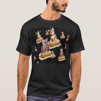 T-shirt invasion de chat de hot-dog