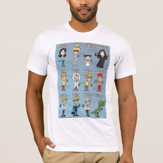 T-shirt IPhone-contre-Androïde-contre-Blackberry