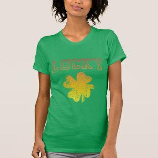 T-shirt irlandais chanceux de shamrock