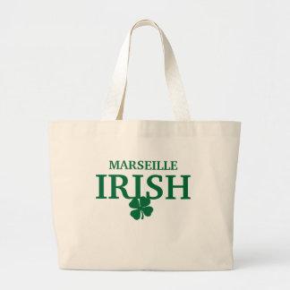 T-shirt irlandais fait sur commande fier de ville  sacs de toile