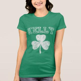 T-shirt irlandais mignon de Kelly de shamrock