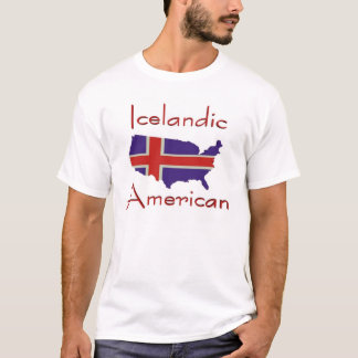 T-shirt islandais de carte d'American/USA