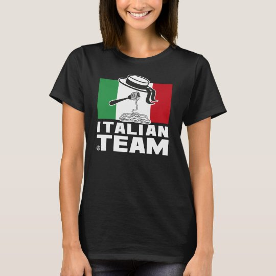 T-shirt ITALIAN TEAM BLACK femme