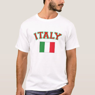 T-shirt italien de drapeau