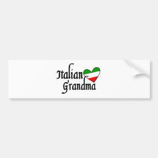 T-shirt italien de grand-maman autocollant de voiture