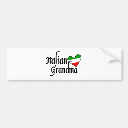 T-shirt italien de grand-maman adhésifs pour voiture