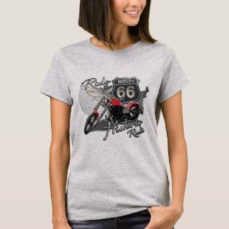 T-shirt Itinéraire 66, moto vintage de tour