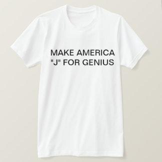 """T-shirt """"J"""" est pour le génie"""