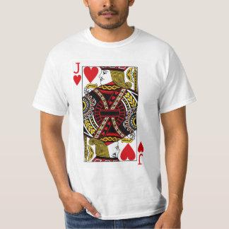 T-shirt Jack de carte de jeu de coeurs