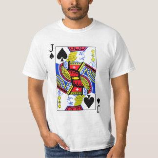 T-shirt Jack de carte de jeu de pelles