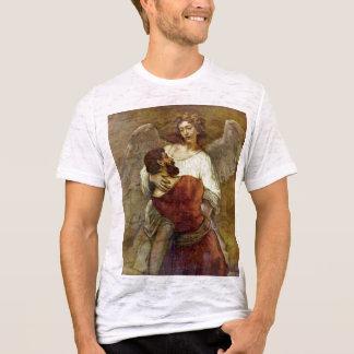 T-shirt Jacob luttant avec l'ange par Rembrandt