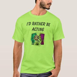 T-shirt J'AGIRAIS plutôt avec KBP et dos de site Web
