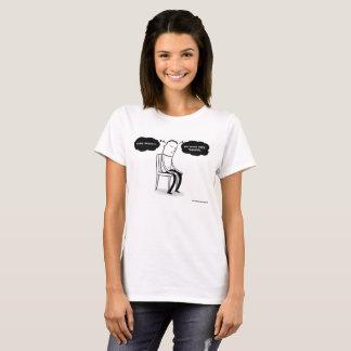 T-shirt J'ai des pensées, mais je ne suis pas chemise de